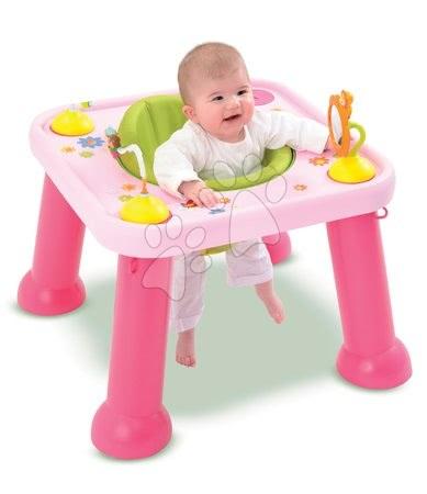 Stolek Cotoons Youp Smoby s hračkami růžový od 6 měsíců
