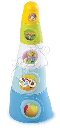 Razvoj motorike - Lončki za zlaganje Happy Tower Cotoons Smoby 5 kosov modri od 12 mes