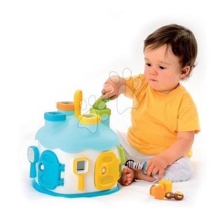 Razvoj motorike - Didaktična hiška Cootons Smoby vstavljanje s ključi in figuricami modra od 12 mes_1