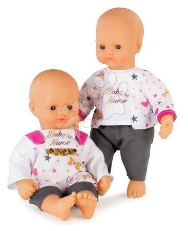 Bábiky s doplnkami sety - Set bábika Baby Nurse Zlatá edícia Smoby 32 cm, jedálenská stolička, hlboký kočík a kolíska s perinkou od 24 mes_1