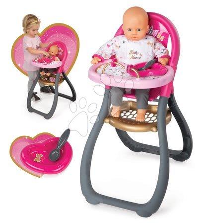 Jedálenská stolička Baby Nurse Zlatá edícia Smoby pre 42 cm bábiku od 18 mes