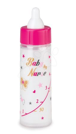 Biberon pentru păpuşă Baby Nurse Smoby 13 cm cu lapte scăzută - din Editia aurie de la 12 luni