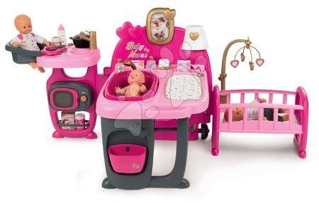Domček pre bábiku Baby Nurse Doll's Play Center Smoby trojkrídlový s 23 doplnkami pre 32-42 cm bábiku 150*71*72 cm SM220327