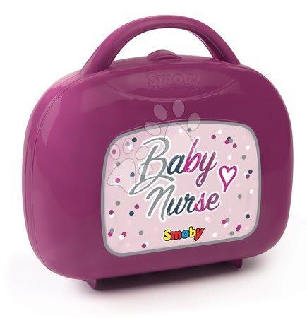 Dodatki za punčke in dojenčke - Kovček s potrebščinami za previjanje Violette Baby Nurse Smoby za dojenčka z 12 dodatki_1