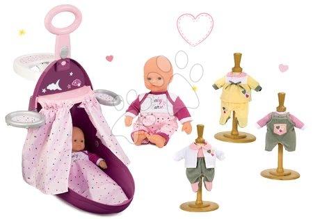 Set přebalovací vozík Baby Nurse Zlatá edice Smoby s postýlkou, panenka 32 cm a 3 šaty od 18 měsíců