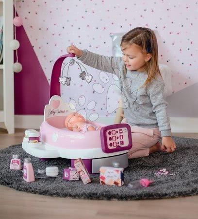 Kuchynky pre deti sety - Set reštaurácia s elektronickou kuchynkou Chef Corner Restaurant Smoby a opatrovateľské centrum s vaničkou a nosítko s fľaškou a nočným úborom_1