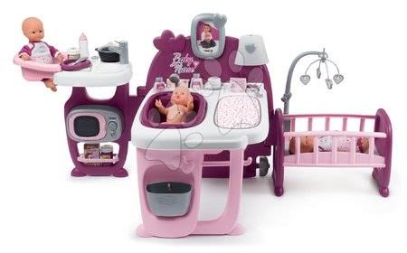 Domeček pro panenku Violette Baby Nurse Large Doll's Play Center Smoby trojkřídlový s 23 doplňky (kuchyňka, koupelna, ložnice)
