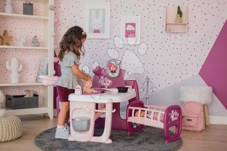 Játékbabák gyerekeknek - Szett babacenter Violette Baby Nurse Large Doll's Play Center Smoby és ruhácska 32 cm játékbabára 1 darab ajándékba_1