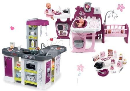 Set domeček pro panenku Violette Baby Nurse Large Doll's Play Center Smoby a kuchyňka elektronická Tefal Studio XXL Bubble