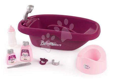Dodatki za punčke in dojenčke - Banjica s kahlico in kozmetiko Violette Baby Nurse Smoby z 8 dodatki za dojenčka do 42 cm