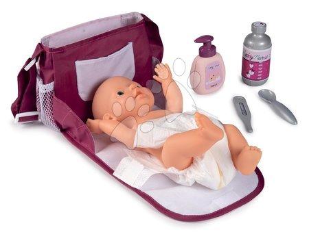 Dodatki za punčke in dojenčke - Previjalna torba s pleničko Violette Baby Nurse Smoby s 7 dodatki in nastavljivo naramnico_1