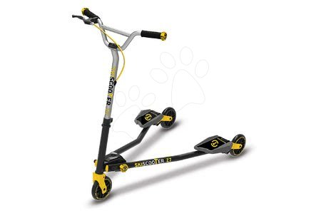 Trotinetă SkiScooter schiatul pe şosea smarTrike Z7 Yellow galben-negru de la 7 ani