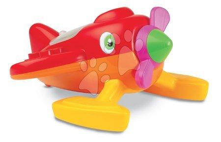 Vapoare pentru nisip - Avion cu set de găleată Écoiffier 4 piese (35 cm lung) roşu-portocaliu de la 18 luni