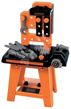 Pracovná dielňa Black&Decker Écoiffier s 27 doplnkami oranžovo-čierna od 18 mes