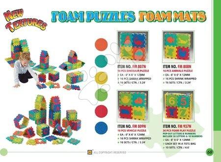 Lee Chyun - Habszivacs puzzle Dínó négyzetek Lee Chyun 16 darab 15*15*1,2 cm_1