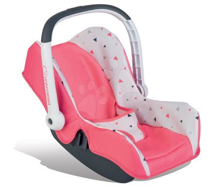 Autosedačka Trio Pastel Maxi Cosi&Quinny Smoby pro panenku růžová trojúhelníková