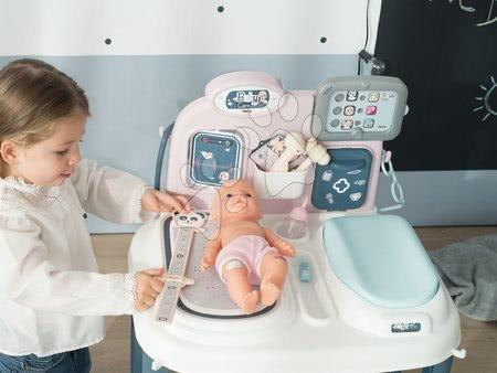 Medicinska kolica za djecu - Set medicinski stolić Baby Care Center Smoby s bočicom i nosiljkom za lutku_1
