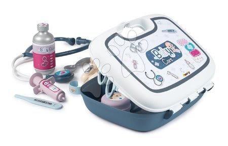 Medicinska kolica za djecu - Medicinski kovčeg za medicinsku sestru Baby Care Smoby s 19 dodataka i naljepnicama