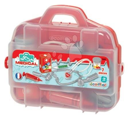 Medicinska kolica za djecu - Medicinski kovčeg Écoiffier s prvom pomoći i 7 dodataka od 18 mjes