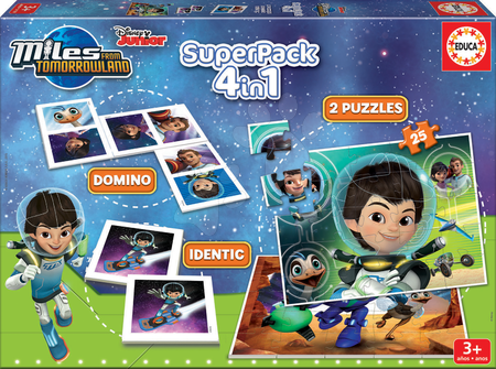 EDUCA 16730 SUPERPACK Miles from Tomorrowland 4 v 1 PUZZLE, DOMINO, PEXESO , od 3 rokov