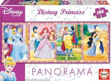 Princese - Dječje puzzle Panorama Princeze Educa 100 dijelova od 5 godina