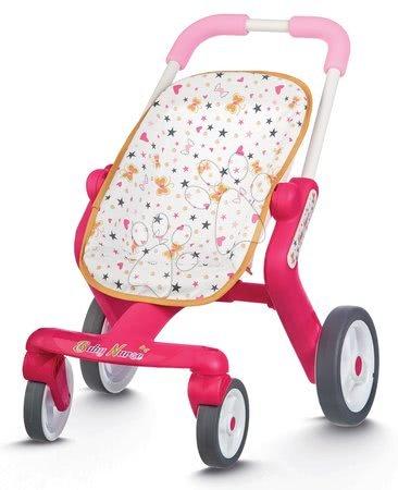 Voziček za dojenčka Baby Nurse Zlata izdaja Smoby z vrtljivimi koleščki (53,5 cm ročaj) od 18 mes