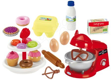 Riadíky a doplnky kuchynky - Kuchynský robot Pastries Écoiffier so zákuskami a 21 doplnkov od 18 mes