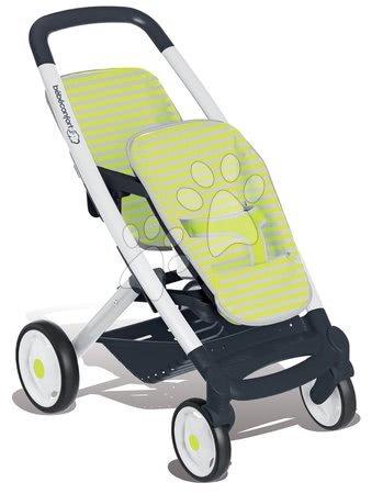 Voziček za dojenčka dvojčka Maxi Cosi & Quinny Twin Smoby (66 cm ročaj) zeleno-siv