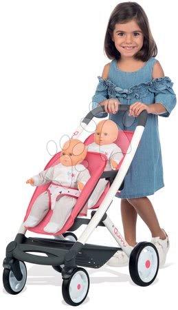 Játékbabák gyerekeknek - Szett iker babakocsi Trio Pastel Maxi Cosi & Quinny Smoby és iker játékbabák Violette Baby Nurse_1