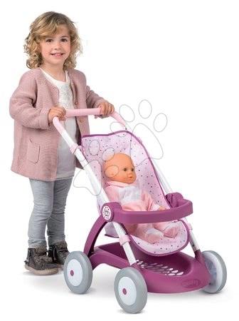 Športni voziček Violetta Baby Nurse Smoby za dojenčke (55 cm ročaj) od 18 meseca
