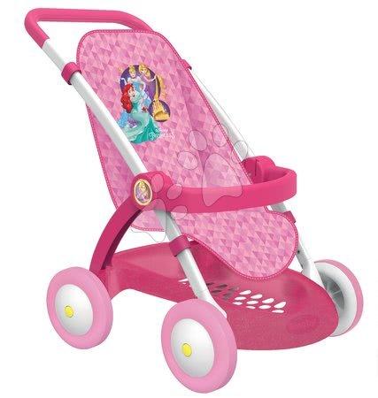 Princese - Set kolica za lutku Smoby sportska (58 cm ručka), hranilica, kolijevka i lutka s odjećom od 18 mjeseci_1
