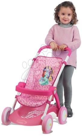 Minnie Mouse - Set kočárek pro panenku Smoby sportovní (58 cm rukojeť) a pečovatelský kufřík Nursery od 18 měsíců_1