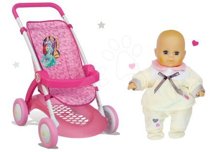 Princese - Set sportska kolica za lutku Princeze Disney Smoby s lutkom na poklon_1
