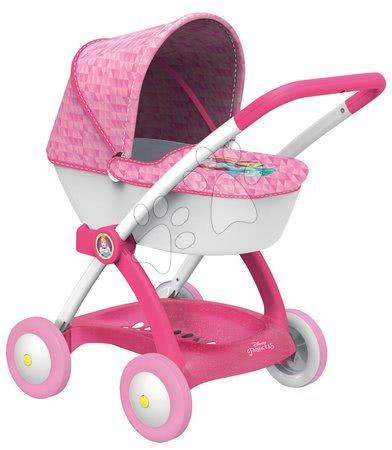 Hluboký kočár pro panenku Disney Princezny Smoby od 18 měsíců růžový
