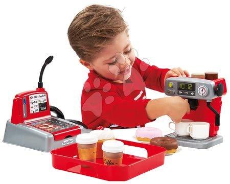 Detské kuchynky - Set kuchynka s technickým vybavením Tech Edition Smoby elektronická a malá kaviareň s Espresso kávovarom a zákuskami_1