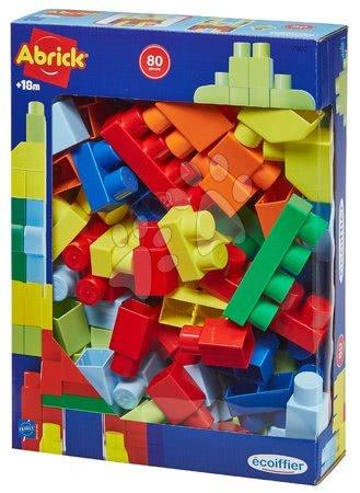 Építőjátékok - Építőjáték Les Maxi Abrick Écoiffier 60 nagy építőkocka 12 hó-tól