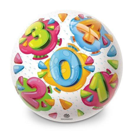 Obrázková lopta BioBallls Čísla Mondo gumová 23 cm MON26042-6394