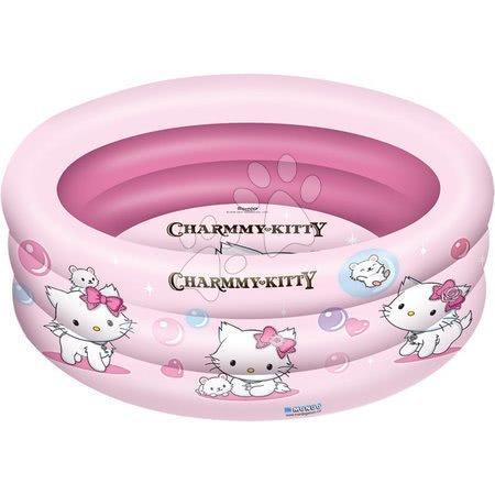 Piscine pentru copii - Piscină gonflabilă cu trei inele Charmmy Kitty Mondo 150 cm de la 10 luni