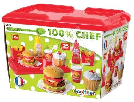 Detské hamburgery Écoiffier s doplnkami