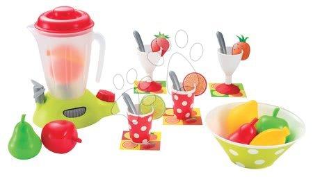 Detský smoothie mixér 100% Chef Écoiffier s prestieraním a ovocím od 18 mesiacov s 27 doplnkami