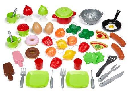 Riadíky a doplnky kuchynky - Potraviny a riad pre kuchynku 100% Chef Écoiffier 50 druhov od 18 mes