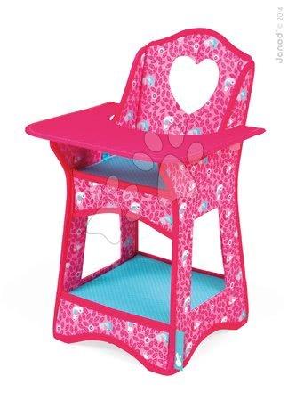 Jedálenská stolička Birdy Paradise Janod pre 36 cm bábiku od 2 rokov ružová