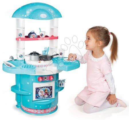 Detská kuchynka Frozen Ma Premier Smoby s krídelkami a 17 doplnkami od 18 mesiacov modro-ružová