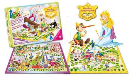 Jocuri de societate pentru copii - Joc de societate clasic Pinocchio Dohány de la 5 ani