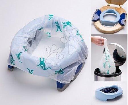 Gyermek utazó bili/WC Potette Plus szűkítő legkisebbeknek világoskék-sötétkék