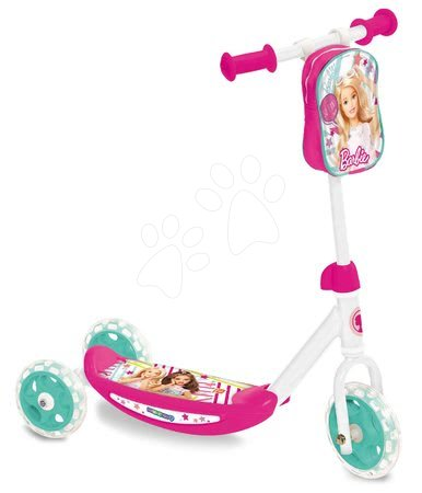 Trotinetă cu trei roţi Barbie Mondo cu gentuţă de la 3 ani