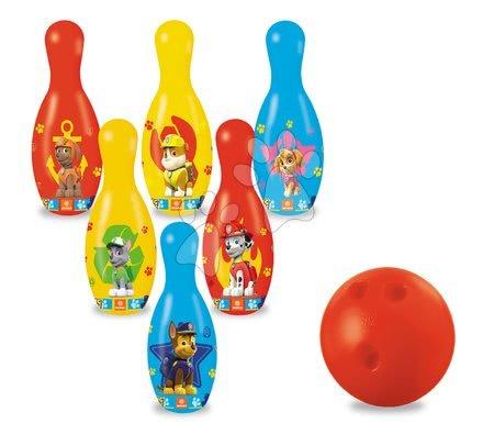 Športové hry pre deti - Kolky Paw Patrol Mondo s loptou (výška 20 cm) 6 dielov