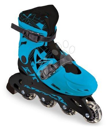 Dětské kolečkové brusle - Brusle in-line Boy Mondo modré 4kolečkové PVC kolečka 64*24mm velikosl 33–36 od 5 let_1