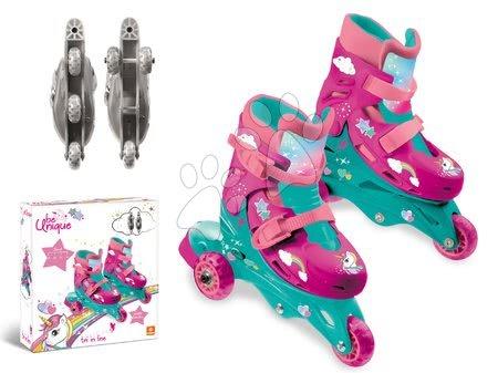 Dětské kolečkové brusle - Kolečkové brusle Jednorožec Mondo inline velikost 29-32, 3kolečkové od 5 let_1