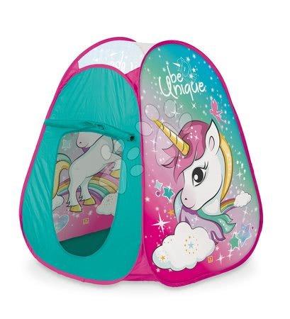 Articole de ștrand - Cort pentru copii Unicorn Pop Up Mondo cu geantă rotundă turcoaz